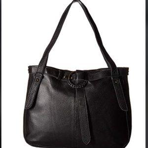 New! NWT The Sak Belted Leather Shopper Shoulder
